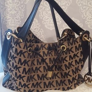 Michael Kors Signature Leather & Fabric Handbag